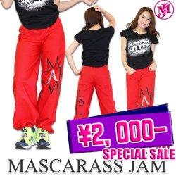 MJ-☆デカロゴDDパンツ(レッド)