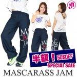 MJ-☆デカロゴDDパンツ(ネイビー)
