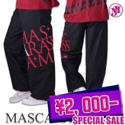 MJ☆デカロゴ脇縫い無しDDワイドパンツ(ブラック/ポプリン)
