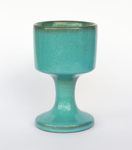Jacques & Dani Ruelland / goblet / Peacock Blue