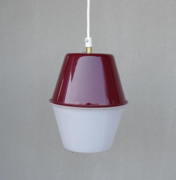 Lisa Johansson-Pape /  ORNO / Acrylic Ceiling lamp / Wine