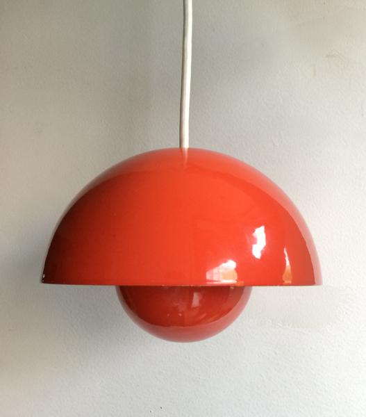 Verner Panton/ Flowere Pot Lamp/orange_B
