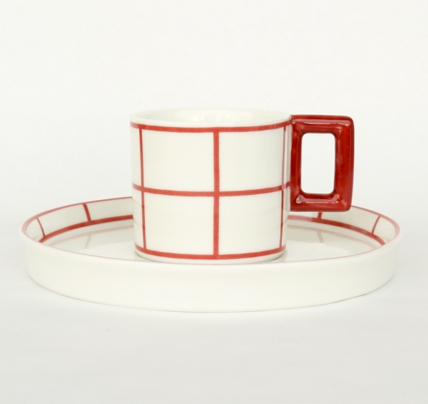 Vlastislav Hofman / Cup & Saucer 1911_Red