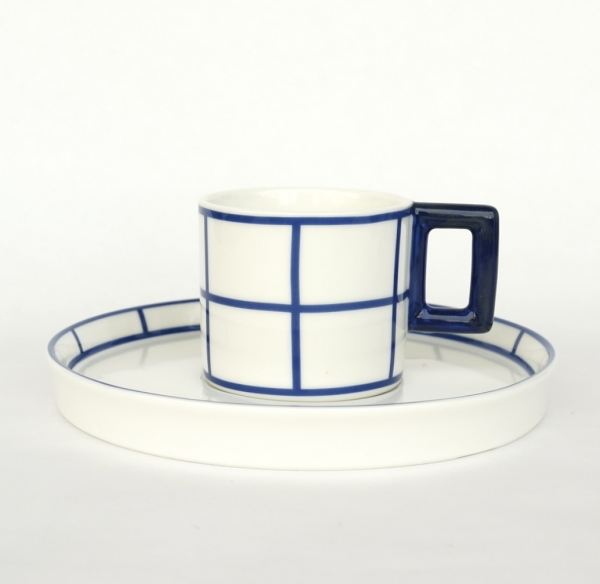 Vlastislav Hofman / Cup & Saucer 1911_Blue
