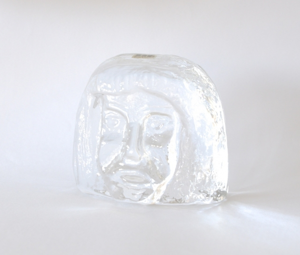 Erik Hoglund/Paperweight/Woman's Face (Clear)