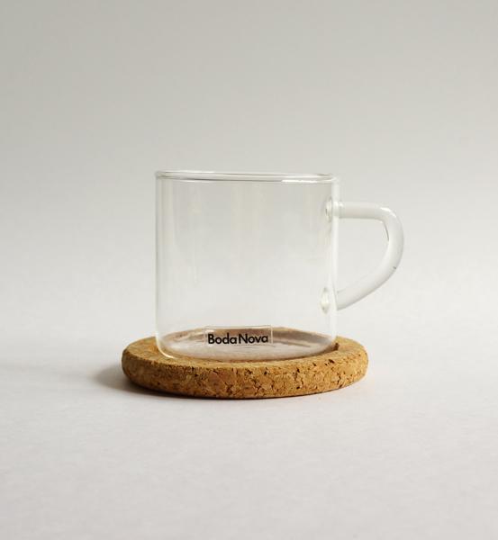 BODA NOVA / Signe Persson-Melin / glass cup & cork mat