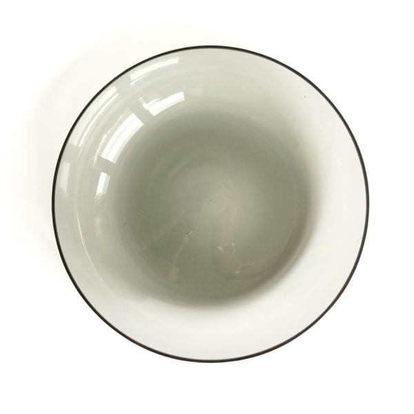 Saara Hopea/ Nuutajarvi/Blown Plate #1202/Gray