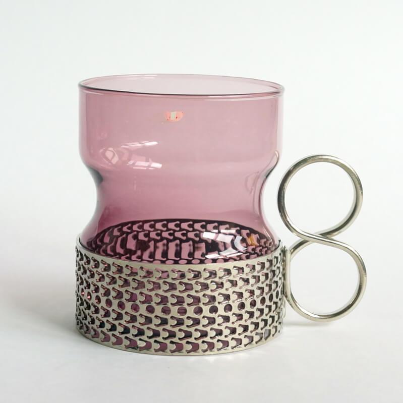 Timo Sarpaneva/Tea glass Tsaikka/Purple
