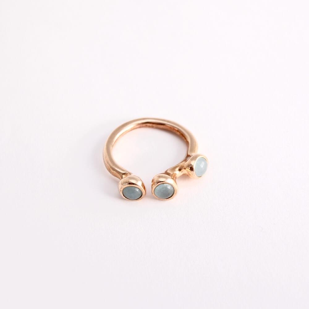 Monica Castiglioni / TRIPISTILLINO WITH STONE (Bronze+Blue Jade)