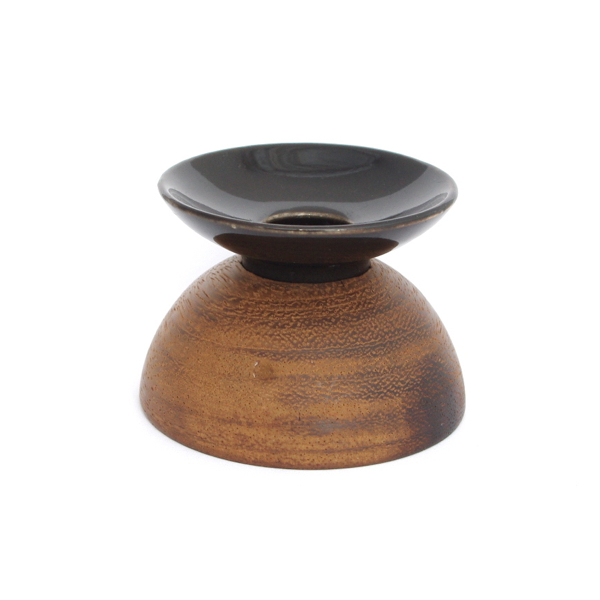 Anonymous/Candle Holder with Teak