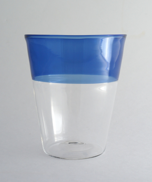 Elia Toffolo/Drinking Glass/Clear×Blue