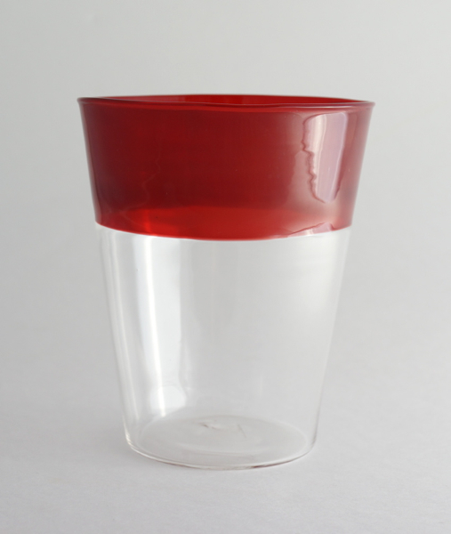 Elia Toffolo/Drinking Glass/Clear×Red