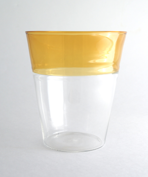 Elia Toffolo/Drinking Glass/Clear×Yellow
