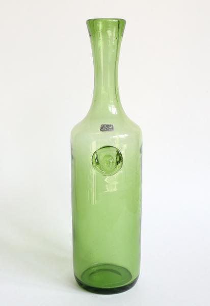 Erik Hoglund/Boda/Hand Made Vase/Green
