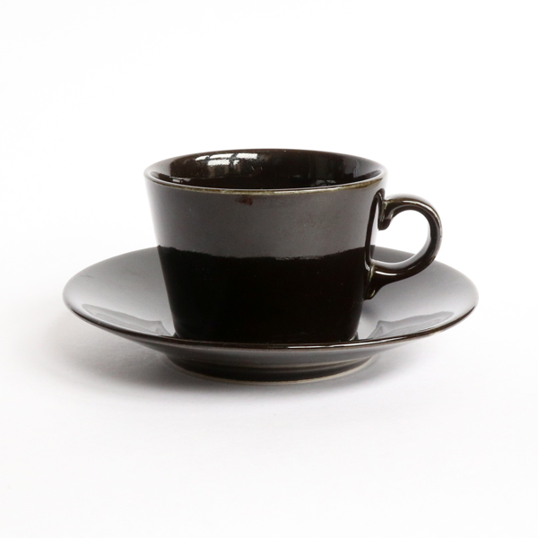 Kaj Franck/KILTA/Cup&Saucer/Small_Black