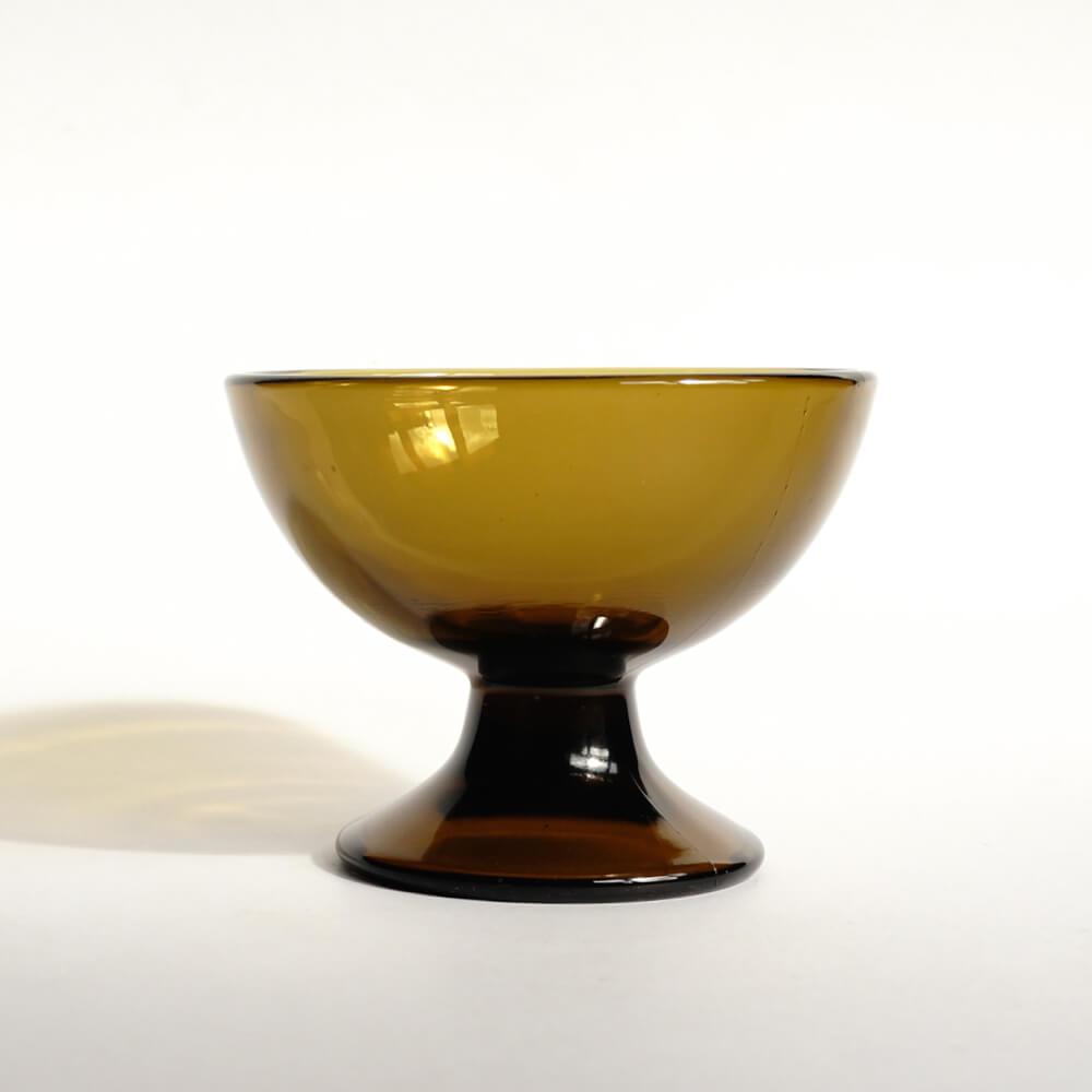 Saara Hopea/ Nuutajarvi/Footed dessert bowl 5379/Olive green
