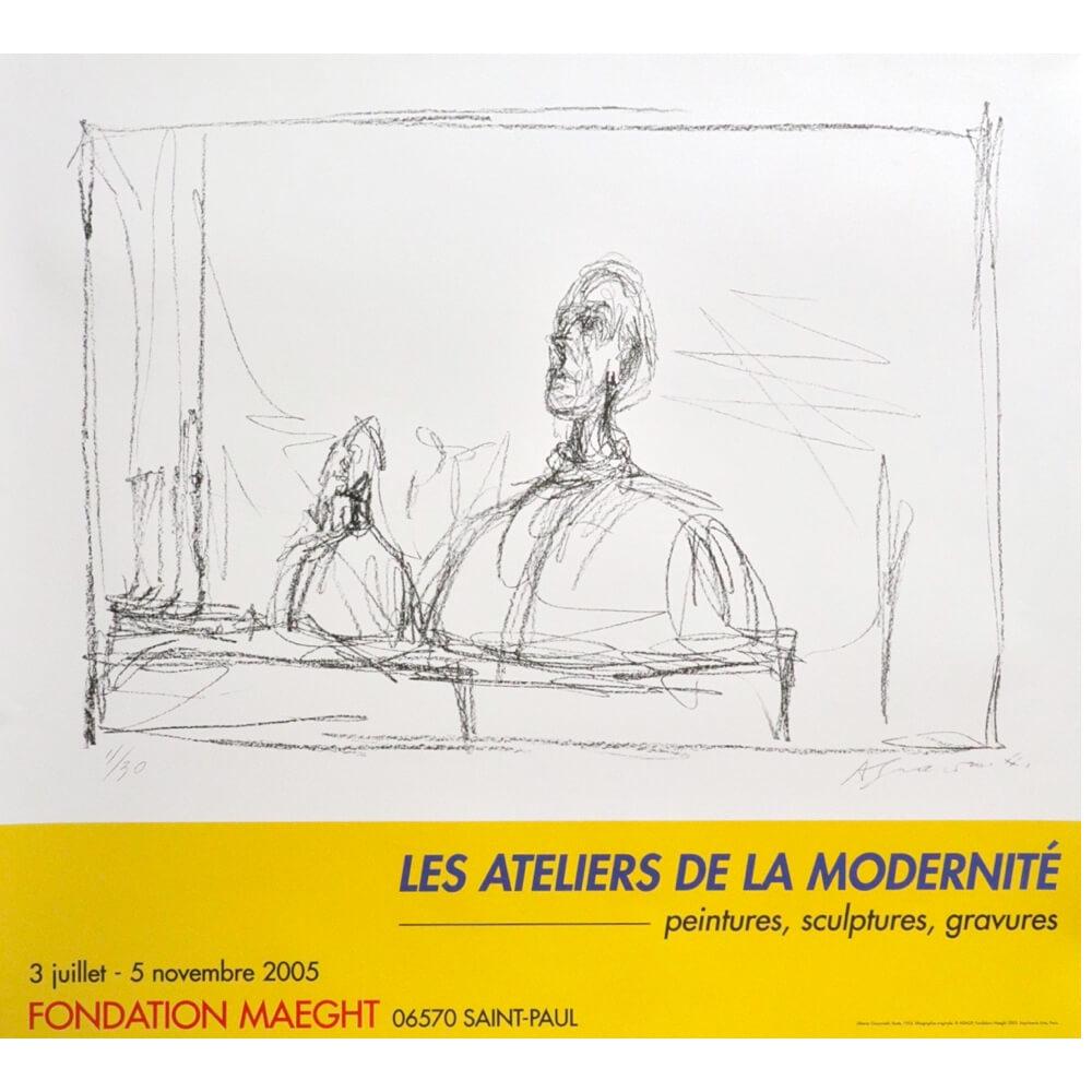 Alberto Giacometti / LES ATELIERS DE LA MODERNITE