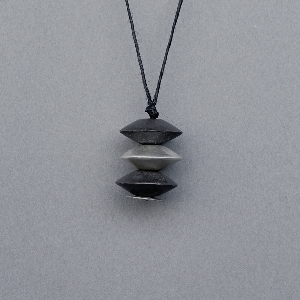 Melanie Decourcey/Pendant On String/3 Piece Silver Abacus