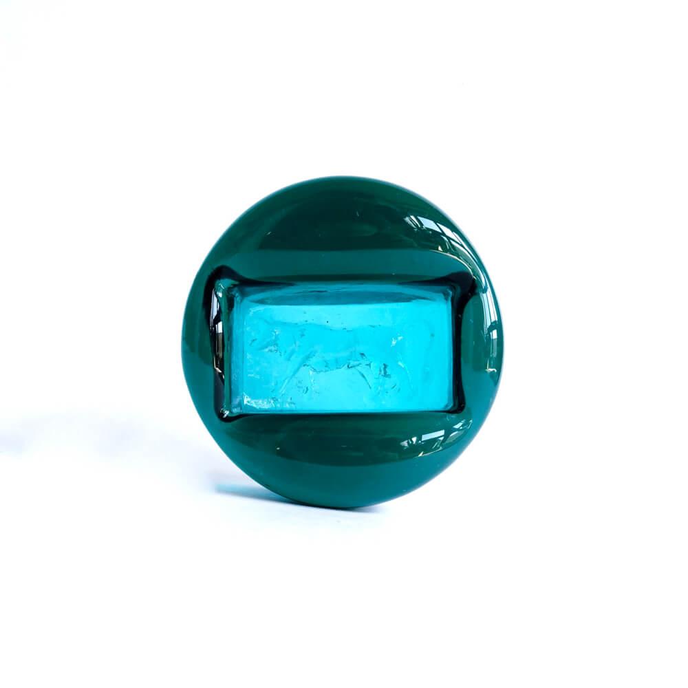 Erik Hoglund/Boda Zodiacs/Blue Green_Round_牛