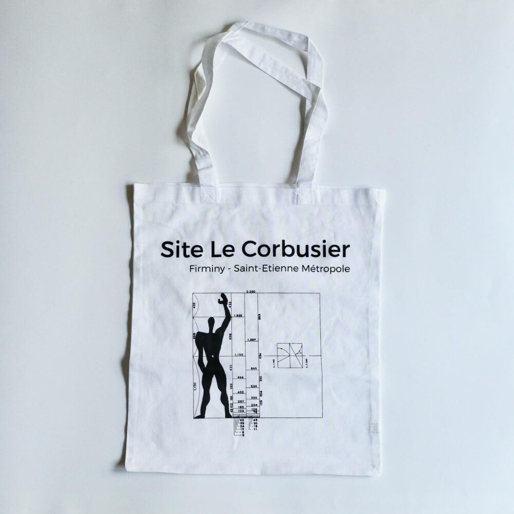 tote bag / Site Le Corbusier / Modulor_white