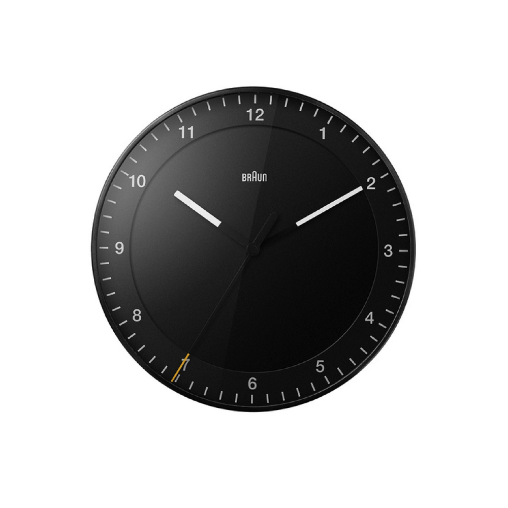 BRAUN / Wall Clock BC17 / Black