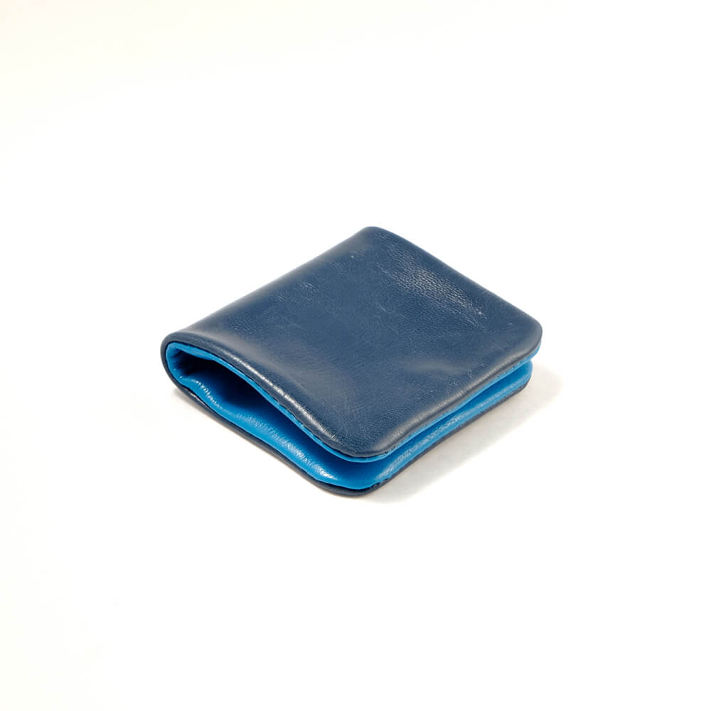 Alice Park/Coin Purse/Navy×Turquoise