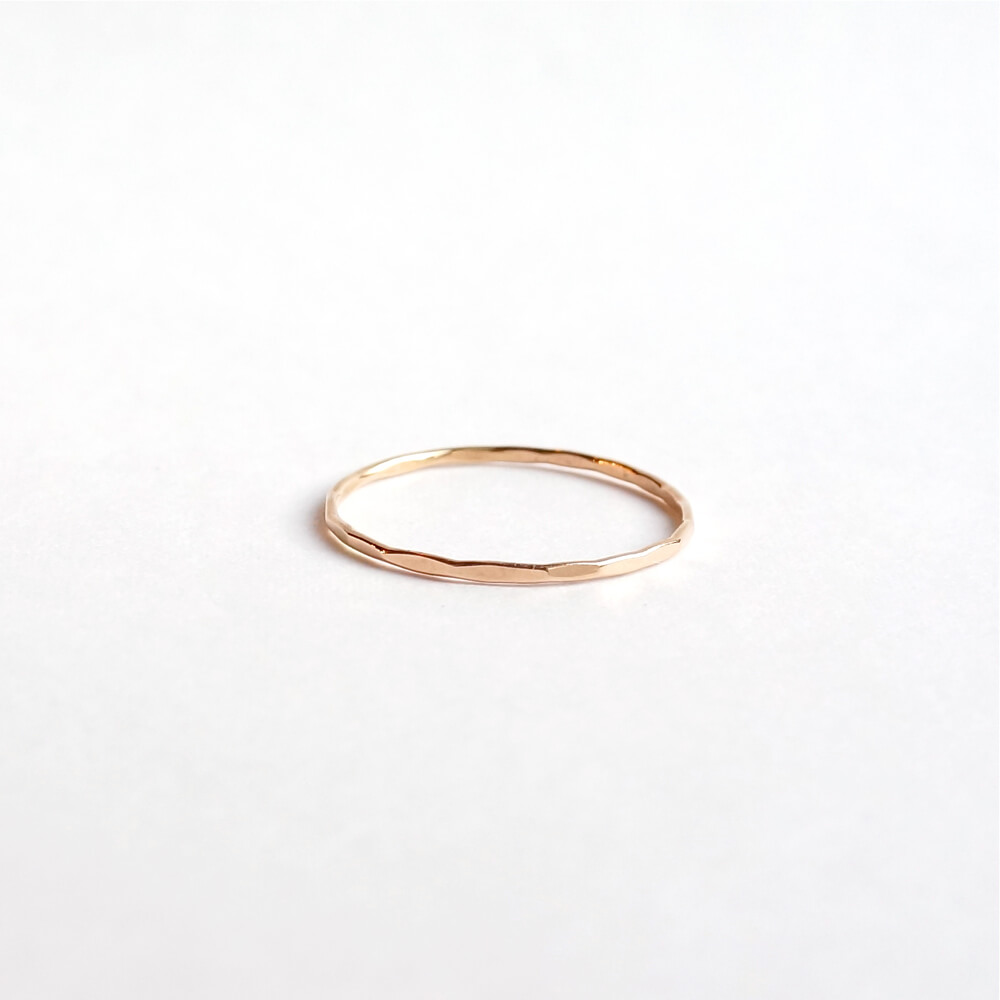 Melissa Joy Manning/Gold Stacking Rings/Pink Gold(11.5号)