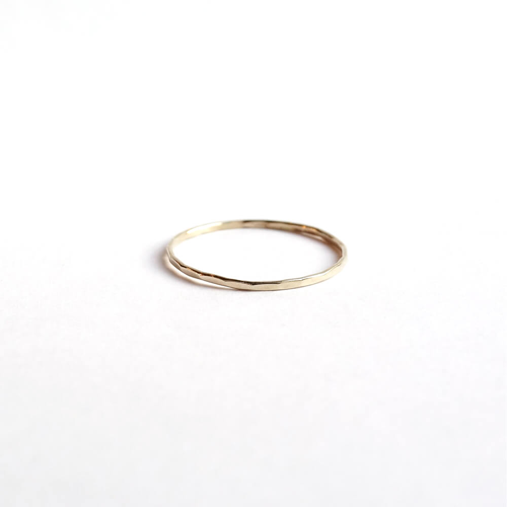 Melissa Joy Manning/Gold Stacking Rings/Green Gold(11.5号)