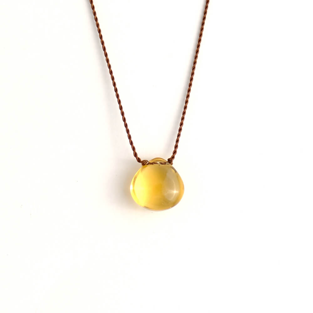 Margaret Solow/Smooth Stone Necklace/Citrine