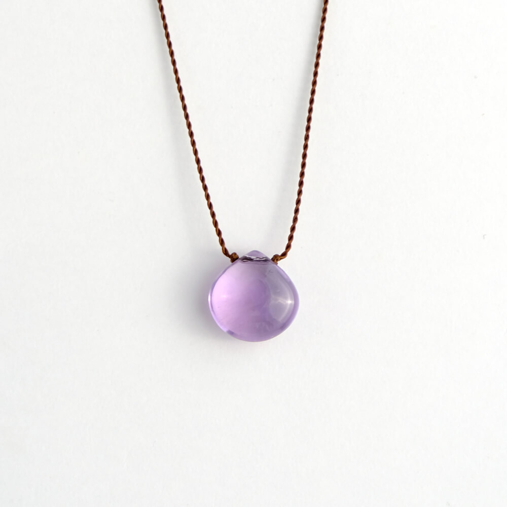 Margaret Solow/Smooth Stone Necklace/Amethyst