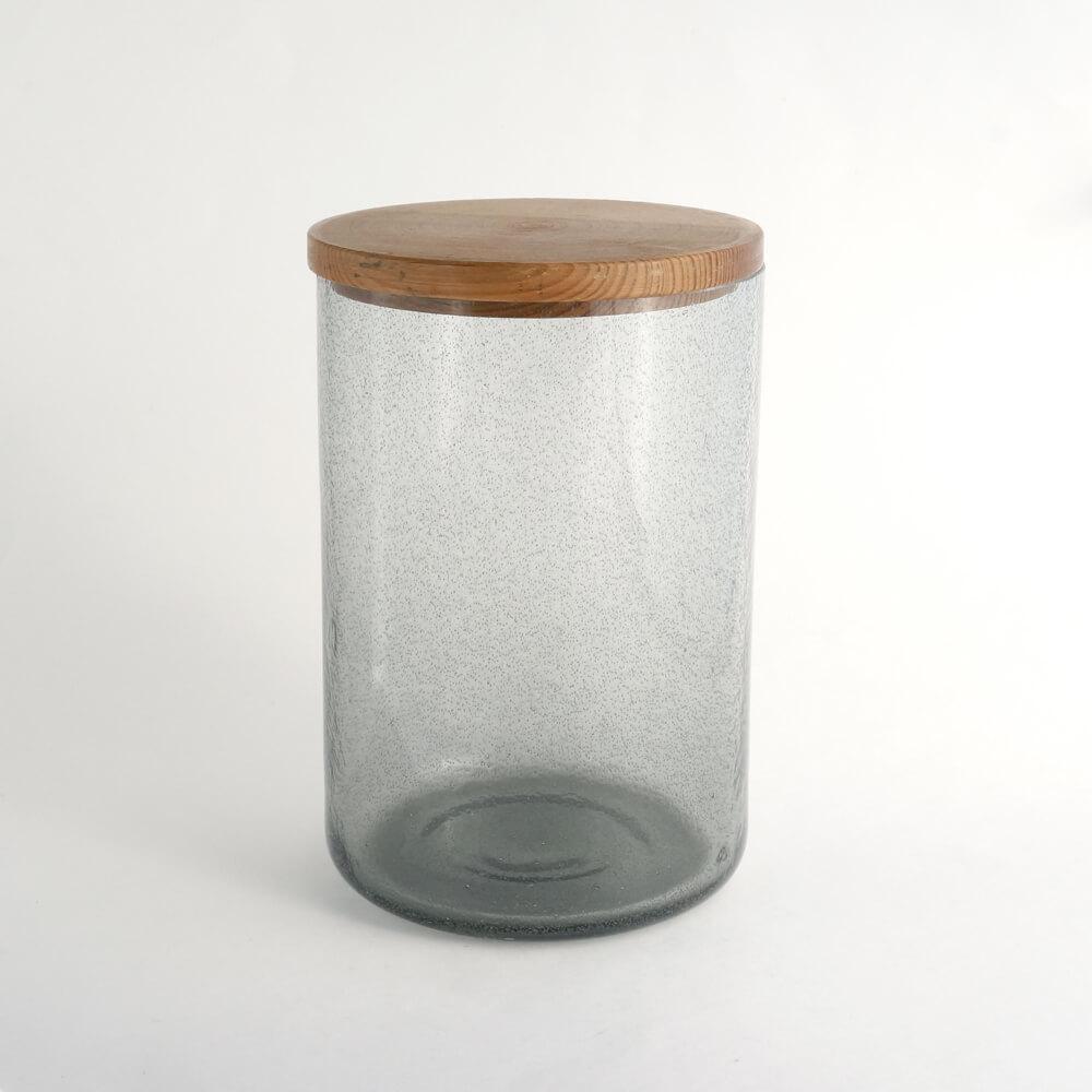 Erik Hoglund / HAND MADE Vase with wooden lid /Gray
