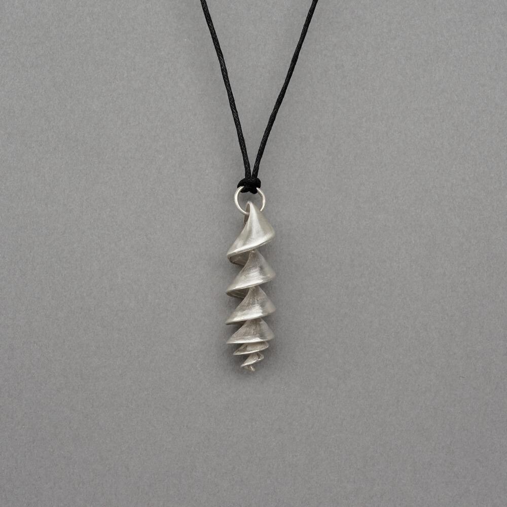 Melanie Decourcey/Pendant On String/Silver Spiral Pendant