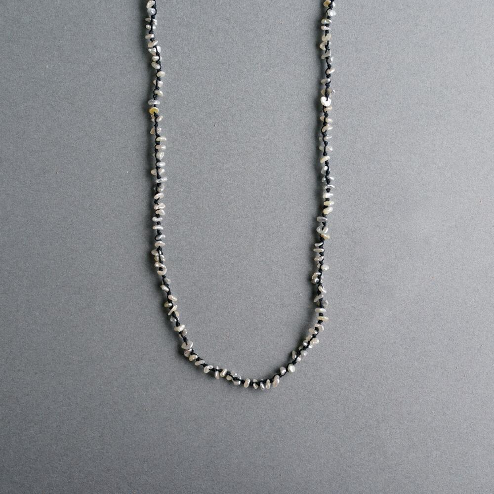 Melanie Decourcey/Beaded Long Keshi Pearl Necklace
