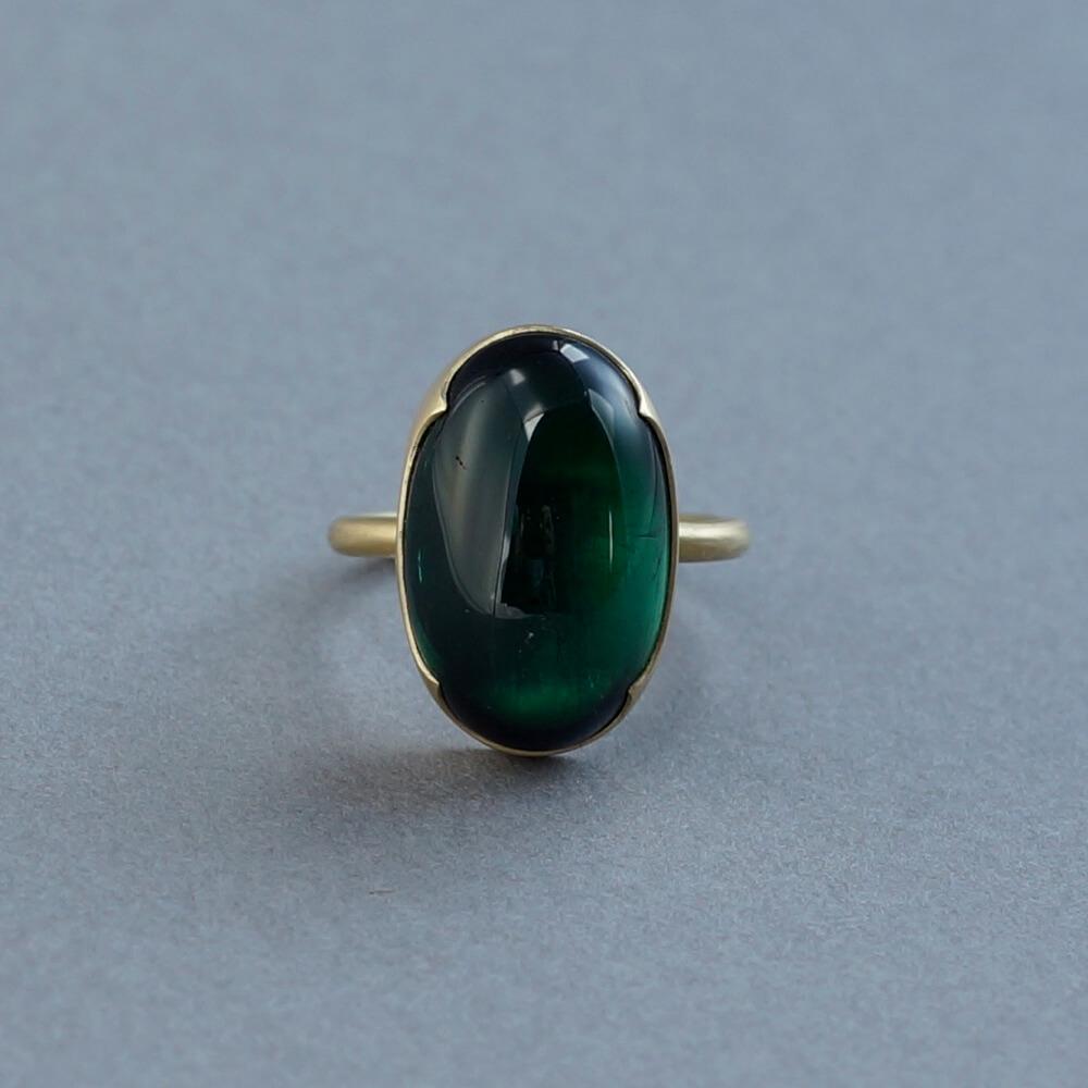 Gabriella Kiss/Large Oval Green Tourmaline Ring
