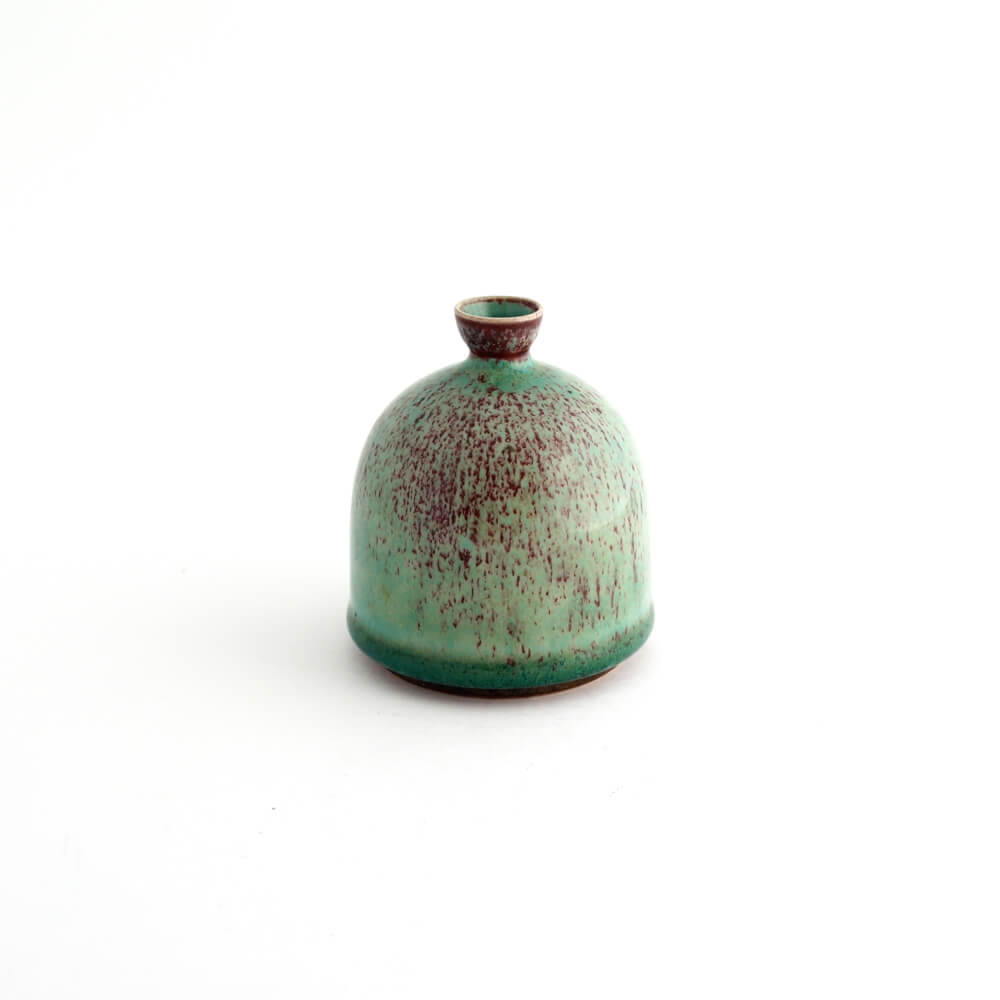 Berndt Friberg / Gustavsberg / Vase / Green x Oxblood
