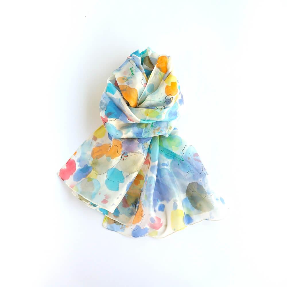 Melanie Decourcey/Silk Scarves/Long �