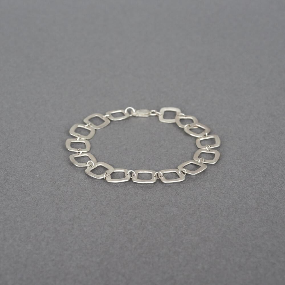 Melanie Decourcey/silver squared bracelet