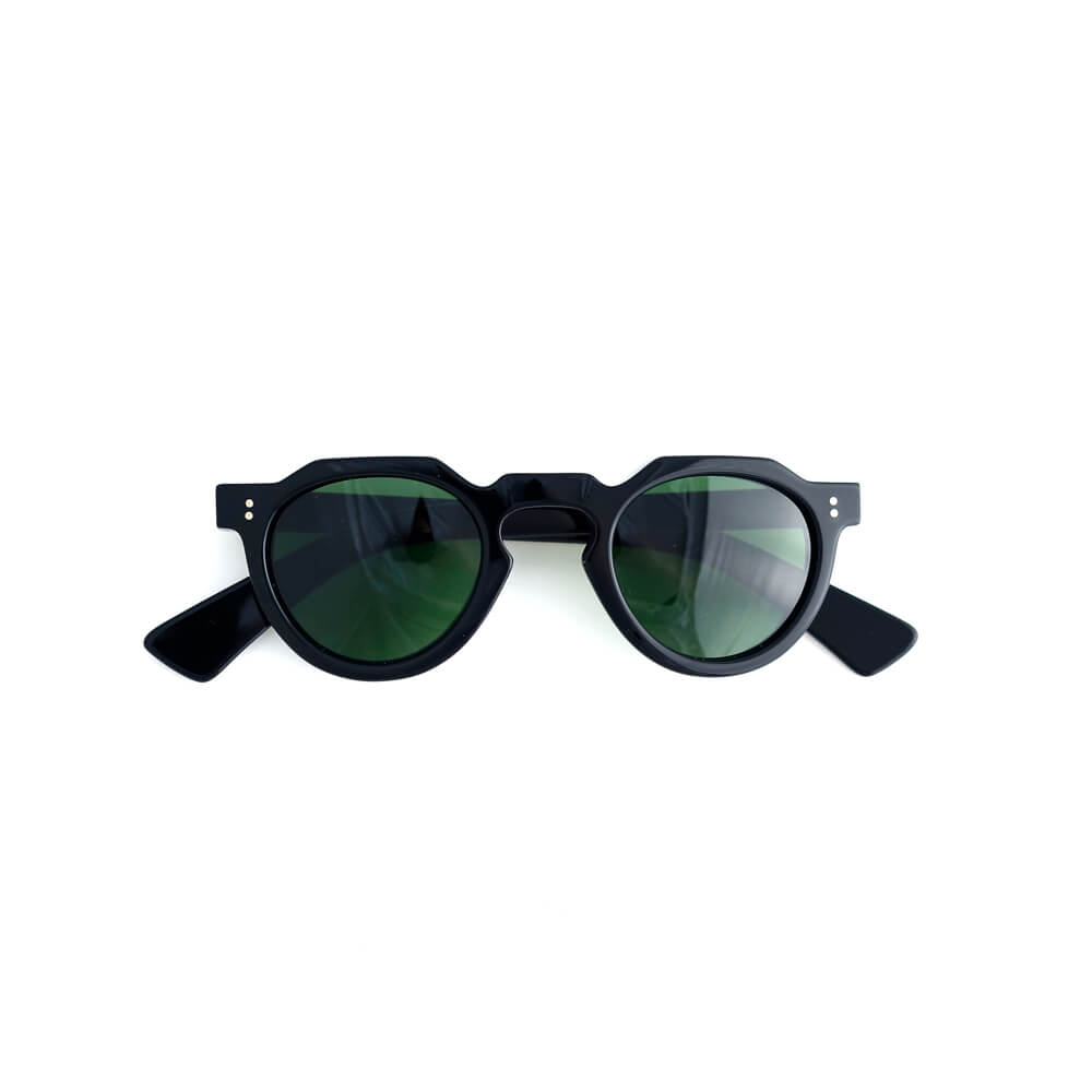 LESCA LUNETIER/Upcycling Acetate Collection/CROWN PANTO 8mm Black