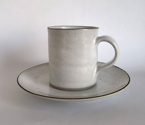 Lucie Rie / Coffee Cup&Saucer /White