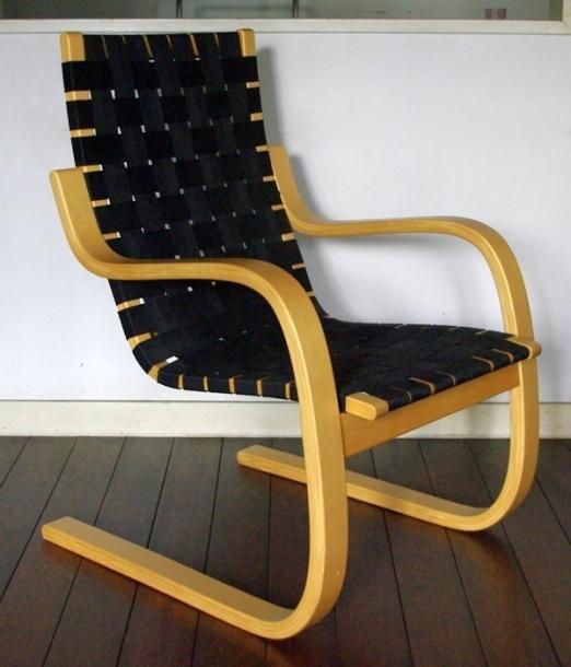 Alvar Aalto/Arm Chair No.406/Black