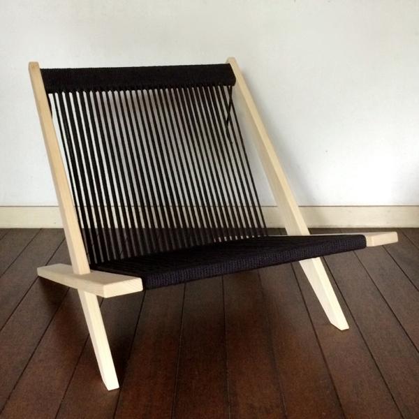 Poul Kjaerholm and Jørgen Høj / Wooden chair with flagline