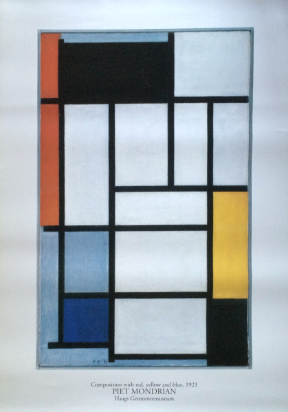 Piet Mondrian / Composition with red,yellow and blue,1921