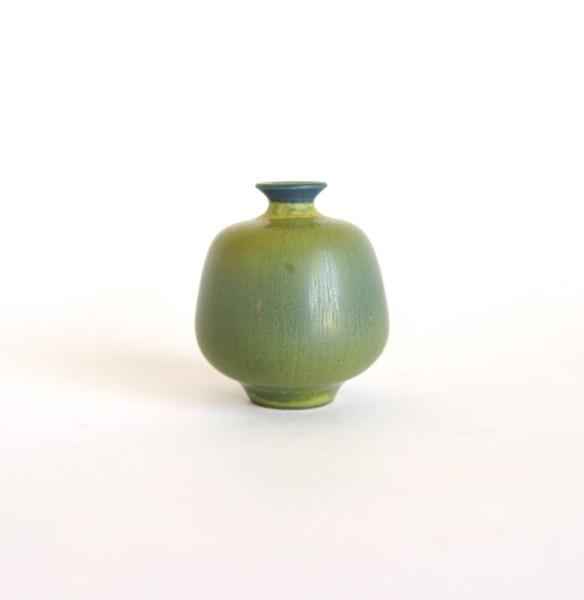 Berndt Friberg/Miniature vase/Blue×Yellow