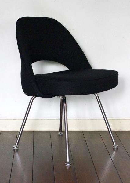 Eero Saarinen/Knoll/Executive Armless Chair/Black