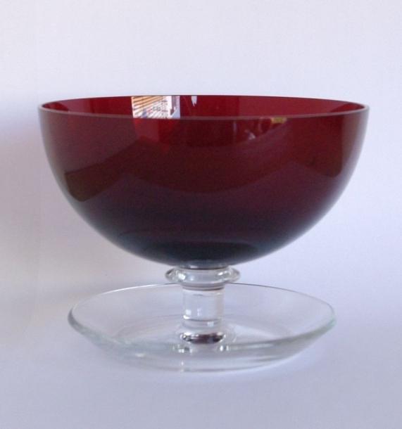 Saara Hopea/Nuutajarvi/Ice cream bowl/Red