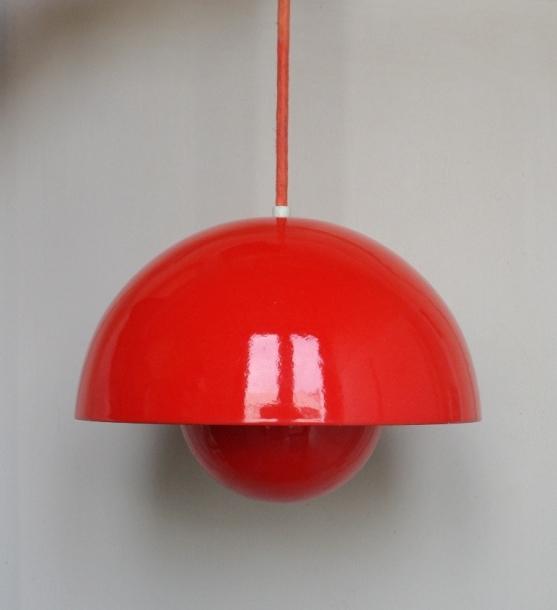 Verner Panton/ Flowere Pot Lamp/orange