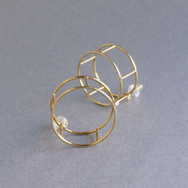 SIRI SIRI/COMPOSITION Earrings LINE ROUND / CP301