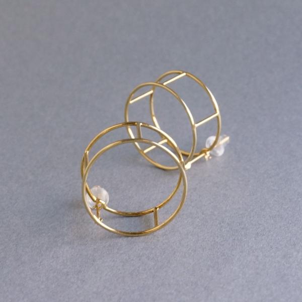 SIRI SIRI/COMPOSITION Earrings LINE ROUND / CP301