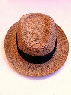 【001】リボン ストロー HAT