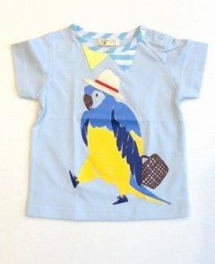 パナマ帽インコTシャツ